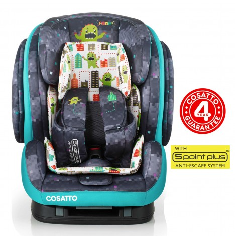 Cosatto Hug Group 123 ISOFIX Car Seat - Monster Arcade
