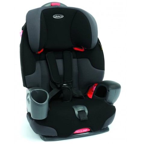graco nautilus charcoal recliner childs booster group 123 car seat with harness ebay. Black Bedroom Furniture Sets. Home Design Ideas