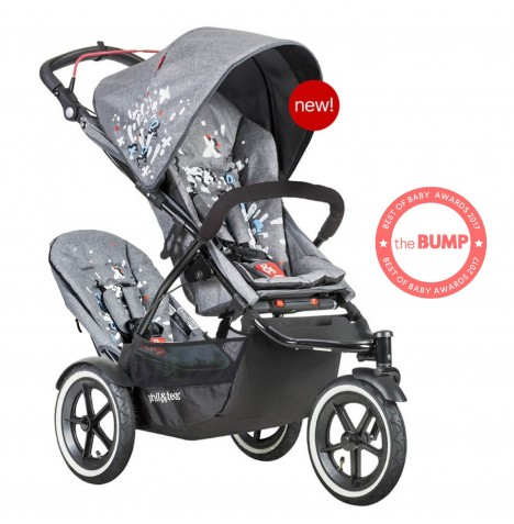 Phil & Teds Sport Autostop Tandem Pushchair - Graffiti