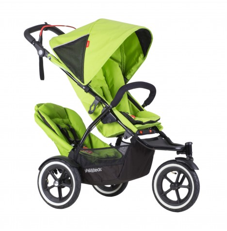 Phil & Teds Sport Autostop Tandem Pushchair - Apple