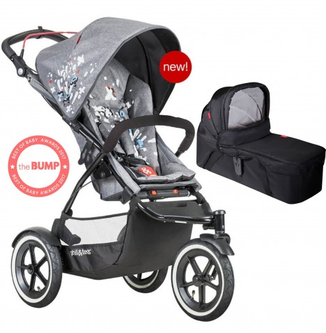 Phil & Teds Sport Autostop Pushchair & Carrycot - Graffiti