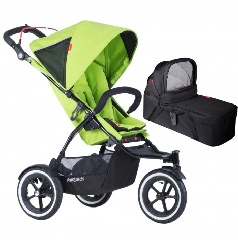 Phil & Teds Sport Autostop Pushchair & Carrycot - Apple