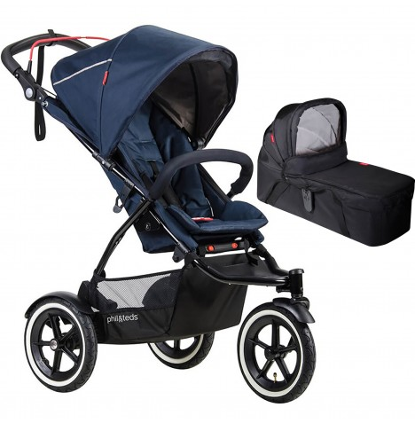 Phil & Teds Sport Autostop Pushchair & Carrycot - Midnight Blue
