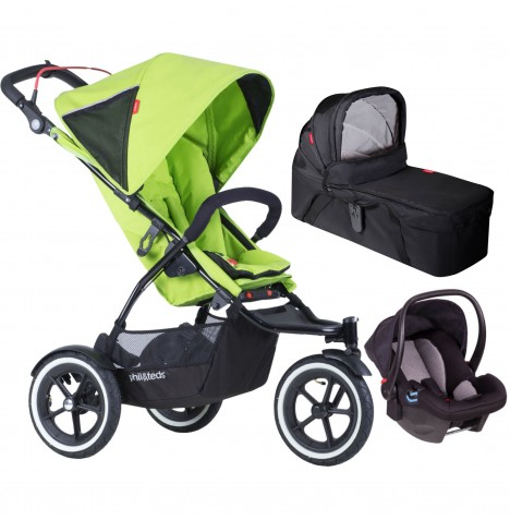 Phil & Teds Sport Autostop Travel System & Carrycot - Apple
