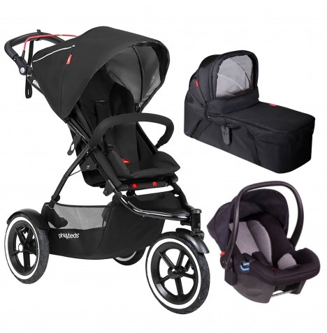 Phil & Teds Sport Autostop Travel System & Carrycot - Black
