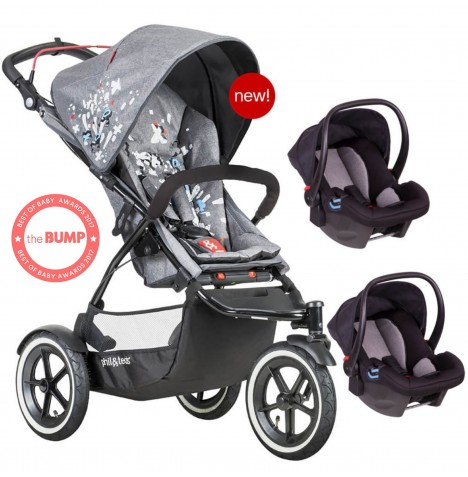 Phil & Teds Sport Autostop Double Travel System - Graffiti