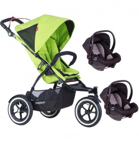 Phil & Teds Sport Autostop Double Travel System - Apple