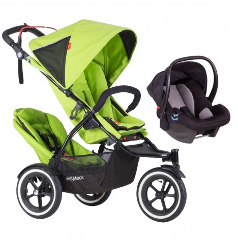 Phil & Teds Sport Autostop Tandem Travel System - Apple