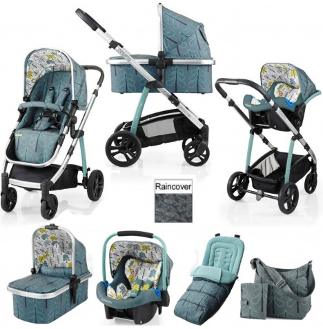 Cosatto Wow 3 in 1 Combi Travel System With Accessories - Fjord