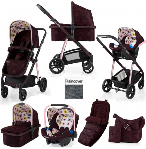 Cosatto Wow 3 in 1 Combi Travel System With Accessories - Posy