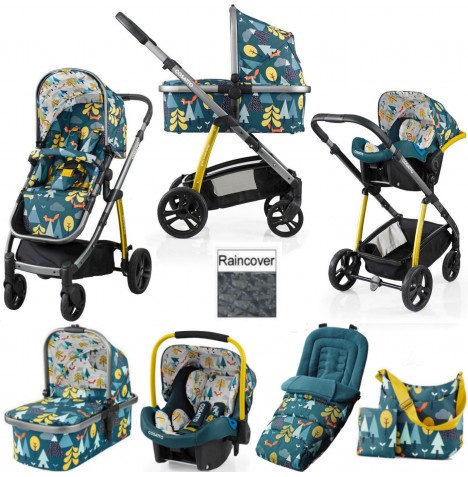 Cosatto Wow 3 in 1 Combi Travel System With Accessories - Fox Tale
