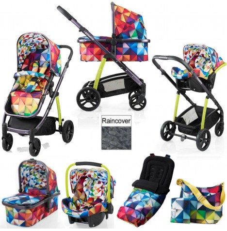 Cosatto Wow 3 in 1 Combi Travel System With Accessories - Spectroluxe