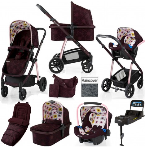 Cosatto Wow 3 in 1 Combi Travel System With Accessories & Isofix Base - Posy