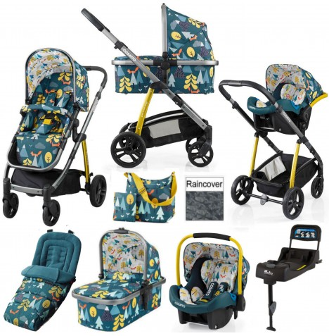 Cosatto Wow 3 in 1 Combi Travel System With Accessories & Isofix Base - Fox Tale