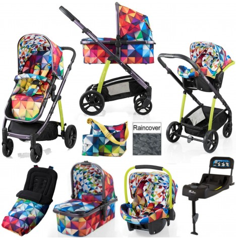 Cosatto Wow 3 in 1 Combi Travel System With Accessories & Isofix Base - Spectroluxe
