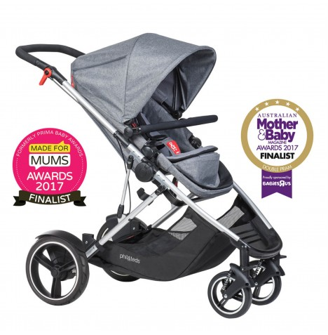 Phil & Teds Voyager Pushchair - Grey Marl