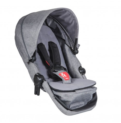 Phil & Teds Voyager Double Kit / Second Seat - Grey Marl