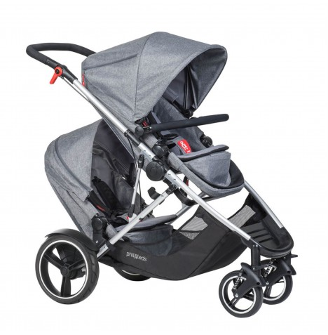 Phil & Teds Voyager Tandem Pushchair - Grey Marl
