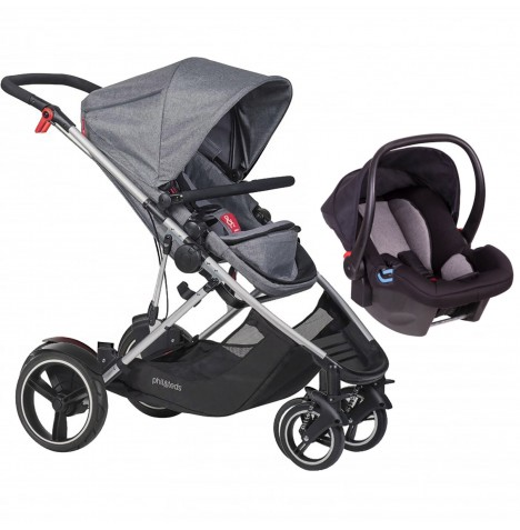 Phil & Teds Voyager Travel System - Grey Marl