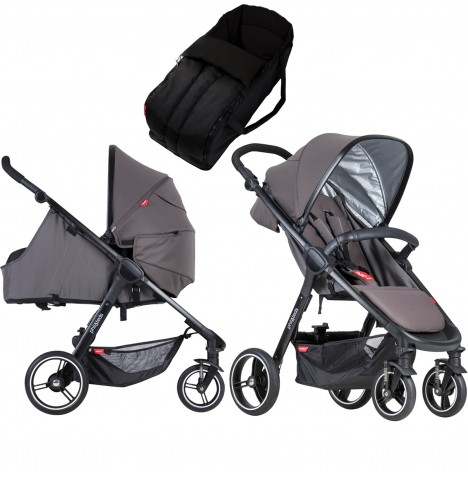 Phil & Teds Smart Pushchair & Carrycot - Graphite
