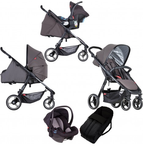 Phil & Teds Smart Travel System & Carrycot - Graphite