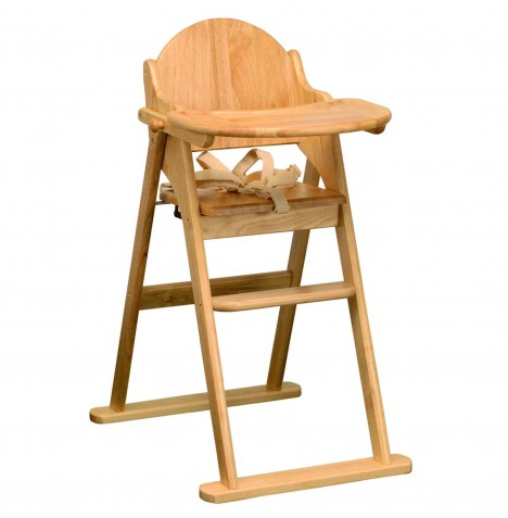 East Coast Wooden Folding High Chair - Natural