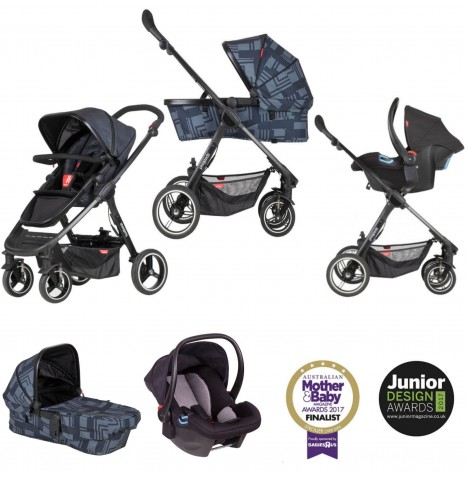 Phil & Teds Mod Travel System - Noir
