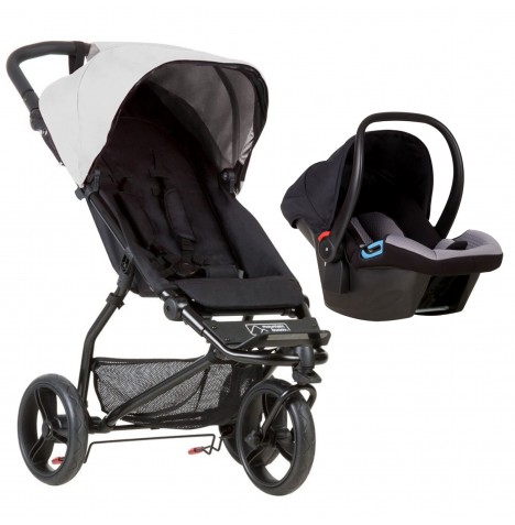 Mountain Buggy Mini Travel System - Silver