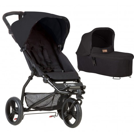 Mountain Buggy Mini Pushchair & Carrycot - Black