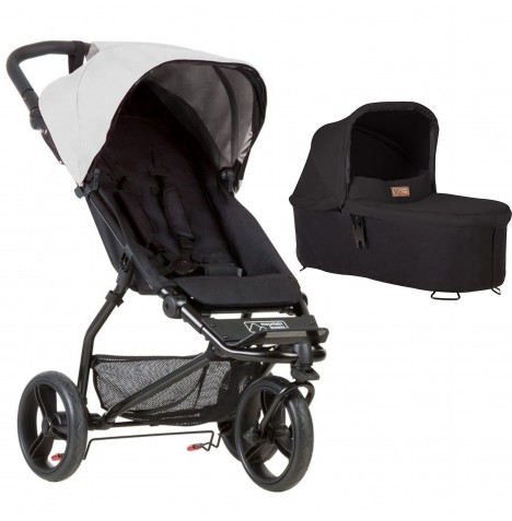 Mountain Buggy Mini Pushchair & Carrycot - Silver