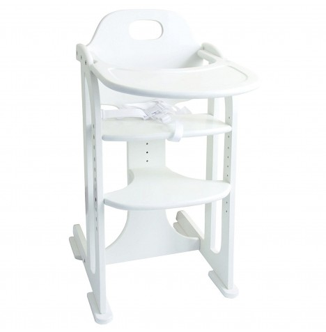 East Coast Wooden Multi Height High Chair - White