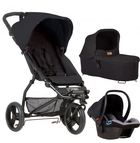 Mountain Buggy Mini Travel System & Carrycot - Black