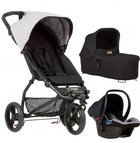 Mountain Buggy Mini Travel System & Carrycot - Silver
