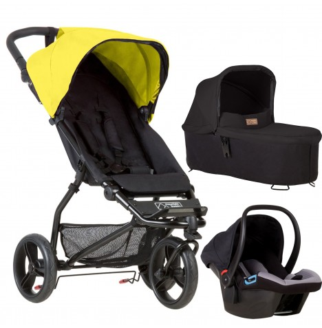 Mountain Buggy Mini Travel System & Carrycot - Cyber