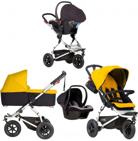 Mountain Buggy Swift Travel System & Carrycot - Gold