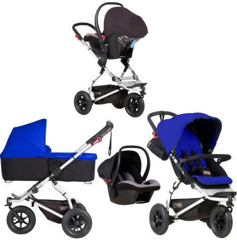 Mountain Buggy Swift Travel System & Carrycot - Marine