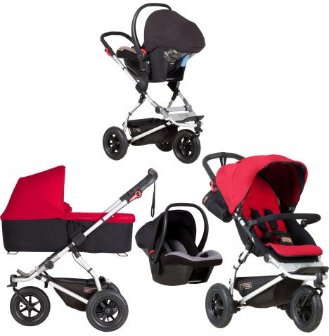 Mountain Buggy Swift Travel System & Carrycot - Berry