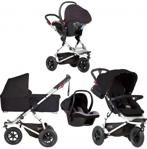 Mountain Buggy Swift Travel System & Carrycot - Black
