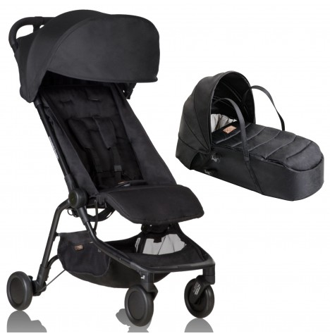 Mountain Buggy Nano Stroller & Carrycot - Black
