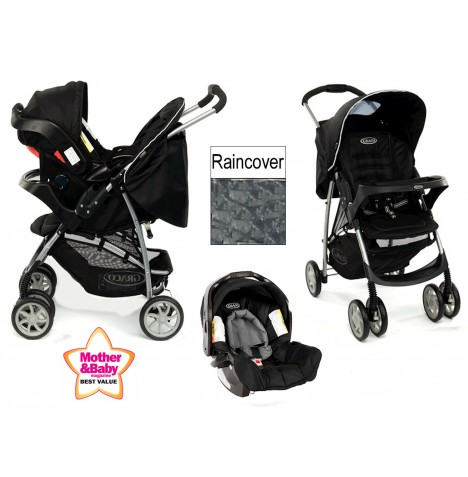 Graco Mirage Pushchair Travel System Black