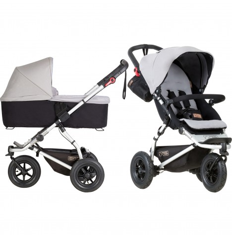 Mountain Buggy Swift Pushchair & Carrycot - Silver
