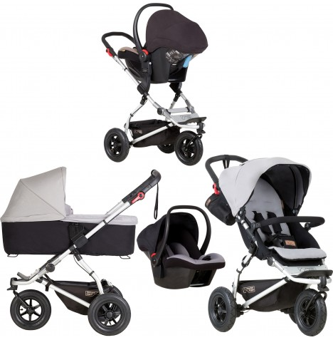 Mountain Buggy Swift Travel System & Carrycot - Silver