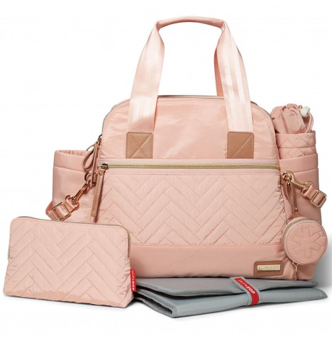 Skip Hop Suite Satchel Large Changing Bag - Blush