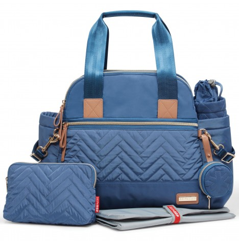 Skip Hop Suite Satchel Large Changing Bag - Dusk Blue