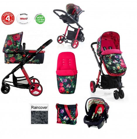 Cosatto Giggle 2 Combi 3 in 1 Travel System - Tropico / Flamingo Fling