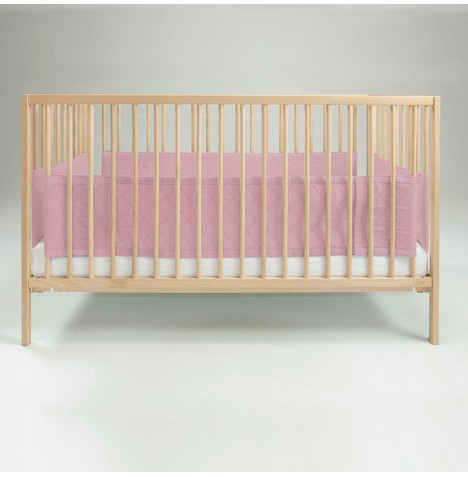Airwrap Deluxe 4 Sided Cot / Cot Bed Bumper - Pink