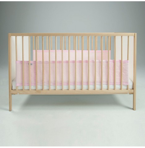 Airwrap Deluxe 2 Sided Cot / Cot Bed Bumper - Pink