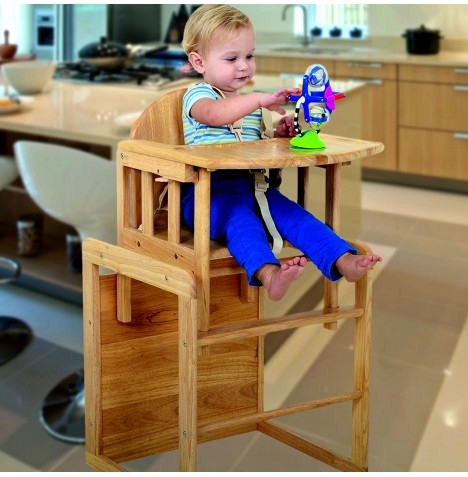 East Coast Combination Wooden Highchair - Natural Wood