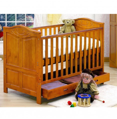Tutti Bambini Jake Cot Bed With Drawer - Antique Pine
