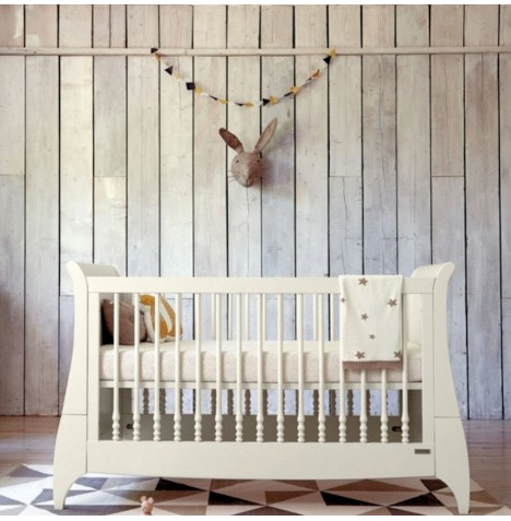 Mamas & Papas Orchard Sleigh Cot Bed - White